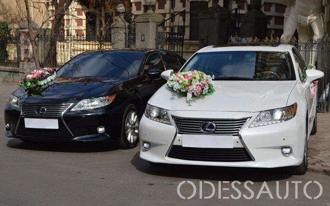 Аренда Lexus ES300H на свадьбу Одесса